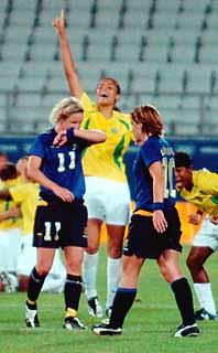 Sverige förlorade semifinalen i OS-fotbollen mot Brasilien. Foto: Ioannis Androutsopoulos/PrB.