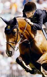 Malin Baryard med sin häst Butterfly flip i finalen. Foto: Ed Wray/PrB