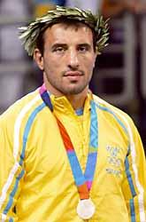 Ara Abrahamian tog OS-silver i brottning men är ändå besviken. Foto: Pierre-Philippe Marcou/PrB
