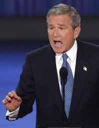George Bush säger att han ska vara en stark ledare för USA. Foto: Pressens Bild