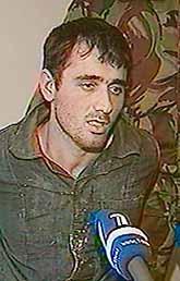 En misstänk terrorist talade i rysk TV. Foto: Pressens Bild