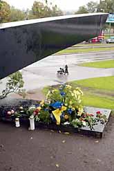 Ett minnesmonument över Estonia i Estlands huvudstad Tallin. Foto: Pressens Bild