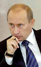 Vladimir Putin säger ja till Kyoto-avtalet om bättre miljö. Foto: Pressens Bild