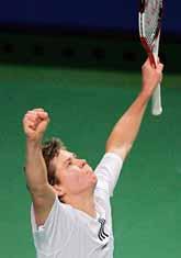 Michael Ryderstedt är klar för kvartsfinal i Stockholm Open i tennis. Foto: Sven Nackstrand/PrB.