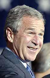 George Bush vann valet. Han höll sitt segertal på onsdagen. Foto: Pressens Bild