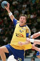 Jonas Larholm var en av de bästa svenskarna i matchen mot Slovenien. Foto: Jack Mikrut/PrB