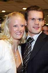 Först OS-guld och nu idrottspris i Sverige till Carolina Klüft och Stefan Holm. Foto: Jonas Ekströmer/PrB