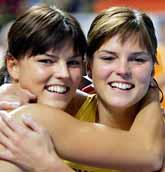 Systrarna Kallur är bäst i Europa, Jenny och Susanna. Foto: Nicolas Asfouri/PrB