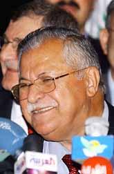 Iraks nye president Jalal Talabani. Foto: Pressens Bild