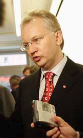 Finansminister Pär Nuder tror att det ska gå bra för den svenska ekonomin. Foto: Bertil Ericson/Pressens Bild