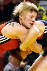 Ida Theres Karlsson blev europamästare i brottning. Foto: Petar Petrov/PrB