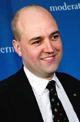 Fredrik Reinfeld är ledare för moderaterna. Foto: Patrick Sörquist/PrB