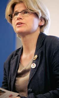 Karin Svensson Smith lämnar vänsterpartiet. Foto: Pressens Bild