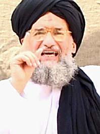 Al-Qaidas ledare  al-Zawahiri hotar med fler bomber mot London. Foto: Pressens Bild.