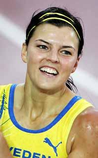 Jenny Kallur är lycklig efter sin sjätteplats i finalen. Foto: Jessica Gow/PrB