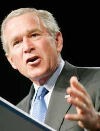 Stödet för George Bush minskar i USA. Foto: Susan Walsh/PrB