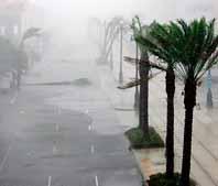 Kanal-gatan i New Orleans är tom sedan orkanen Katrina blåst in över land. Foto: Dave Martin/Pressens Bild