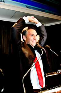 Jens Stoltenberg är det stora vinnaren i det norska valet. Han blir troligen ny statsminister. Foto: Daniel Sannum Lauten