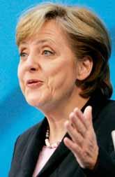 Angela Merkel är den första kvinnan som blir förbundskansler i Tyskland. Foto: Heribert Proepper/Pressens Bild