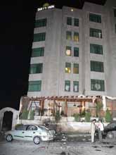 Tre stora hotell i Amman fick stora skador av bomberna. Foto: Pressens Bild