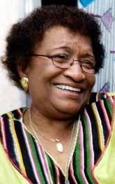 Ellen Johnson-Sirleaf blir president i Liberia. Foto: Issof Sanogo/PrB