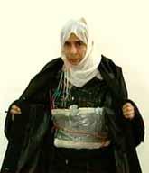Kvinnan var med vid bombdådet i Amman i Jordanien. Hennes bomb sprängdes aldrig. Foto: Pressens Bild