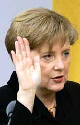 Angela Merkel blir ny förbundskansler i Tyskland. Foto: Fritz Reiss/PrB