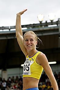 Kajsa Bergqvist får årets bragdguld. Foto: Björn Larsson Rosvall/PrB
