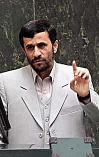 Irans president Mahmoud Ahmadinjad vill inte lyda FN om kärnkraften. Foto: Pressens Bild