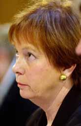 Leni Björklund förhördes av KU på tisdagen. Foto: Leif R Jansson/Pressens Bild