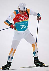Mathias Fredriksson åkte sista sträckan när Sverige tog OS-brons i stafett. Foto: Pressens Bild