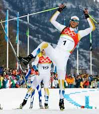 Björn Lind fick jubla över ännnu en seger. Foto: Pressens Bild
