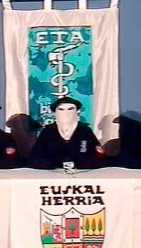 En ETA-medlem lovade i TV att gruppen ska sluta använda våld. Foto: Pressens Bild