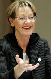 Gudrun Schyman är en av ledarna i partiet  Fi. Foto: Maja Suslin/PrB