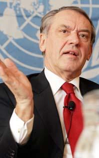 Sveriges nya utrikesminister Jan Eliasson. Foto: Dieter Nagl/Pressens Bild