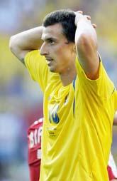 Zlatan deppar efter Sveriges VM-match mot Trinidad/Tobago. Foto: Michael Sohn/PrB