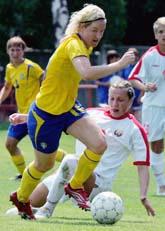 Victoria Svensson gjorde en lysande match mot Vitryssland. Foto: Pressens Bild