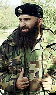 Sjamil Basajev. Foto: Ruslan Musajev/PrB