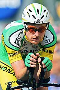 Floyd Landis från USA hade för mycket testosteron i kroppen när han vann cykeltävlingen Frankrike Runt. Foto: AlessandroTrovati/PrB