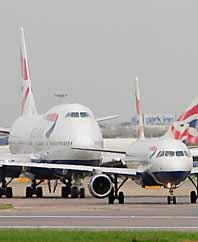 Flygplan fråm det brittiska flygbolaget British Airways skulle sprängas. Foto: Pressens Bild