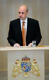 Moderaternas partiledare Fredrik Reinfeldt är ny statsminister. Foto. Jonas Ekströmer/Scanpix