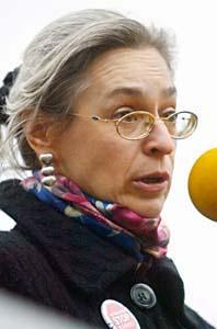 Anna Politkovskaja vågade skriva om kriget i Tjetjenien. Foto: Grigory Tambulov/Scanpix