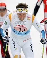 Björn Lind ordnade segern i helgens sprint-stafett. Foto: Volker Hartmann/Scanpix.