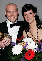 Fredrik Ljungberg och Lotta Schelin fick de finaste priserna på fotbollsgalan. Foto: Henrik Montgomery/Scanpix