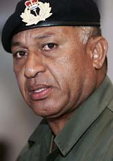 Militär-ledaren Frank Bainimarama har tagit makten i landet Fiji. Foto: Rick Rycroft/Scanpix