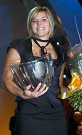 Häcklöparen Susanna Kallur vann Jerringpriset. Foto: Henrik Montgomery/Scanpix