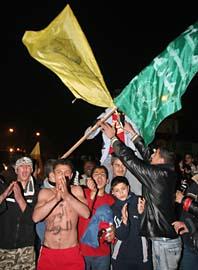 Palestinier firar sin nya regering. Foto: Scanpix