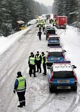 Sex människor dog när två bussar krockade utanför Uppsala. Foto: Staffan Claesson/Scanpix