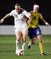 Sverige förlorade mot USA i Algarve Cup. Foto: Armando Franca/Scanpix