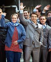 De brittiska soldaterna blev fria efter två veckor som fångar i Iran. Foto: AP Photo/Scanpix